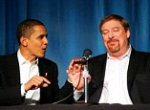 Barack Hussein Obama et Rick Warren {JPEG}